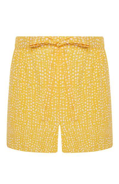 Yellow Ditsy Polka Dot Pyjama Shorts