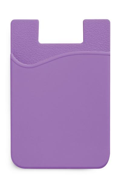 Porte-cartes violet en silicone