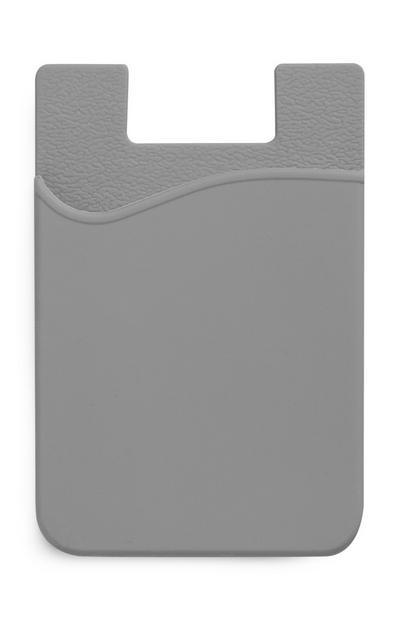 Porte-cartes gris en silicone