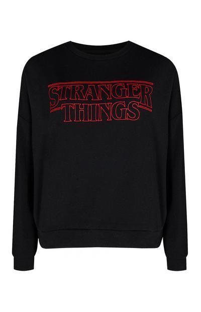 Pull rouge et noir Stranger Things