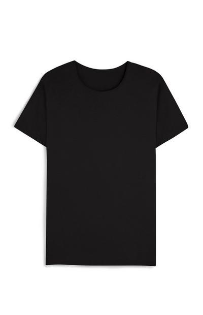 T-shirt manga curta preta