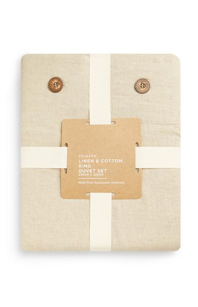 Linen And Cotton King Duvet Set