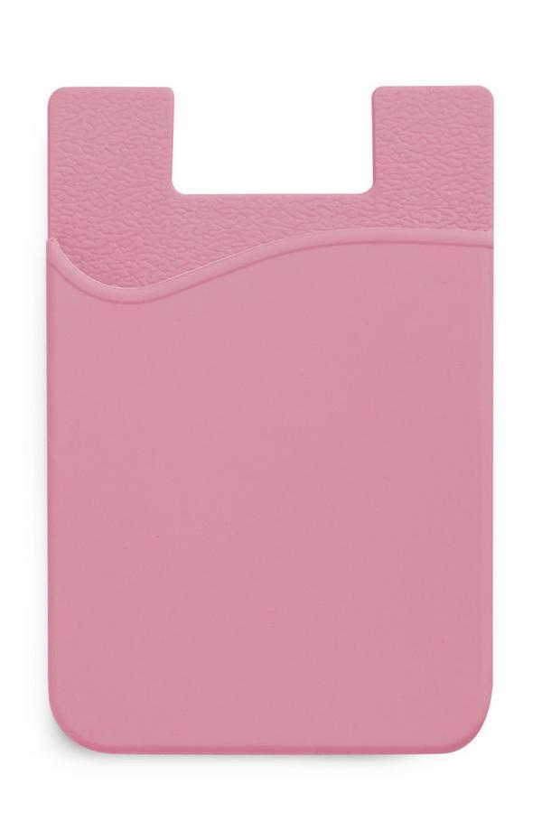 Rosafarbenes Kartenetui aus Silikon