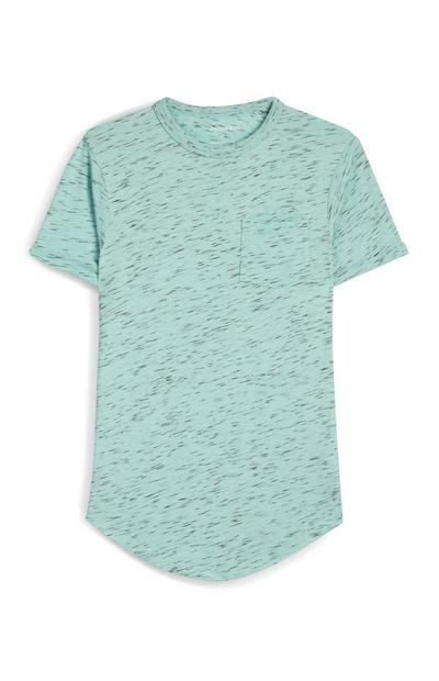 Mint Heather Front Pocket Crew Neck T-Shirt