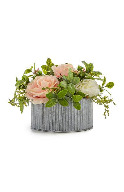 Mixed Faux Flower Tin