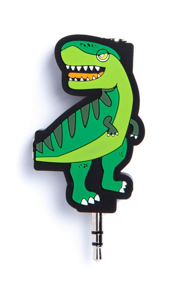 Kopfhörersplitter im Dinosaurierdesign