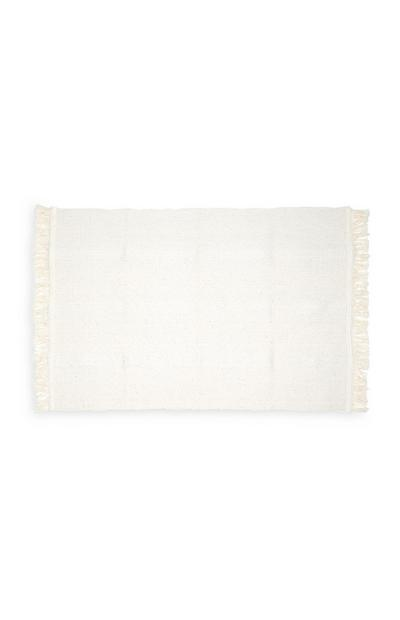 Cream Jacquard Bath Mat