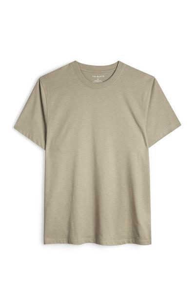 T-shirt grège biologique coupe droite