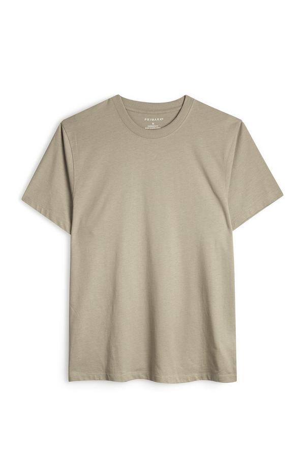Camiseta orgánica de corte cuadrado de color piedra