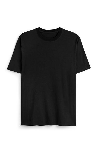 Black Boxy Organic Cotton T-Shirt