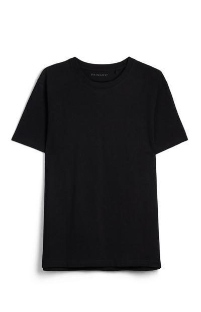 T-shirt nera squadrata cotone biologico