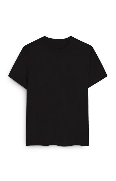 Black Organic Cotton Boxy T-Shirt