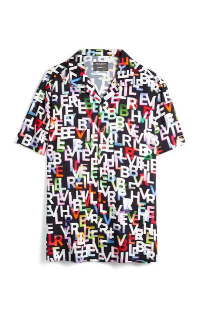 Multi Coloured Believer Text Shirt
