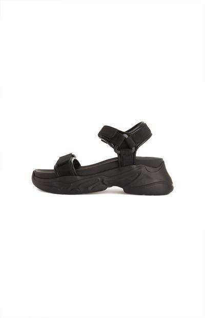 Sportliche Sandalen in Schwarz