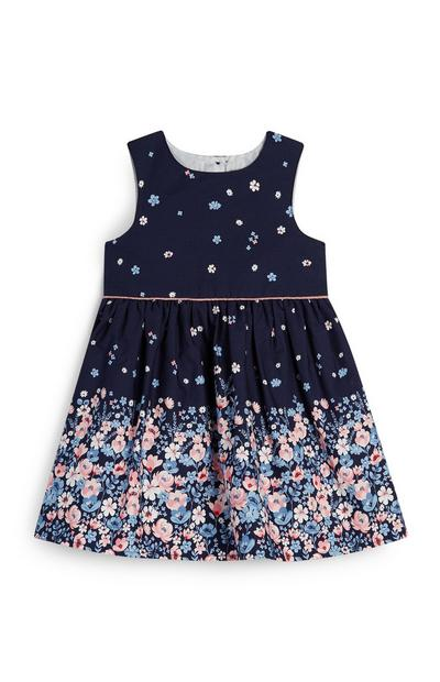 Baby Girl Navy Floral Print Dress
