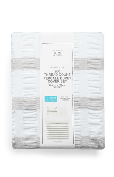 Percale 200 Thread Count Double Duvet Cover Set