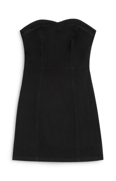 Black Strapless Bodycon Dress