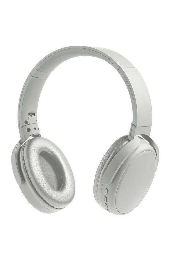 Premium draadloze koptelefoon, zilverkleurig