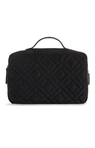 Black Quilted Toiletry Bag