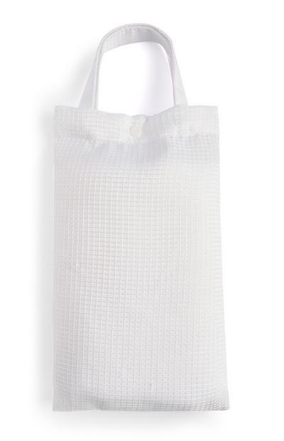 White Jacquard Shower Curtain