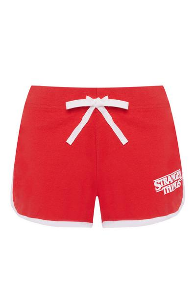 Stranger Things Red Front Tie Pajama Shorts