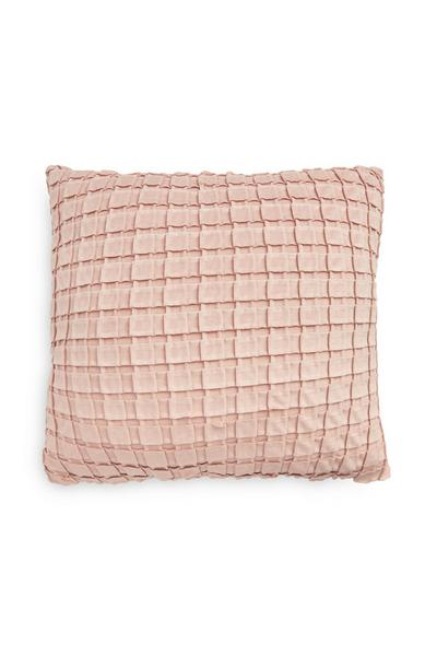 Rose Pink Pleated Cushion