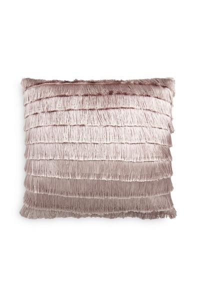 Purple Fringe Cushion