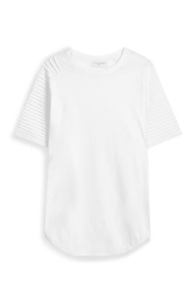 T-shirt estilo motard branco