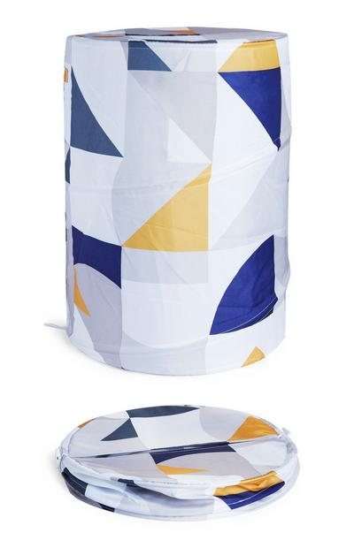 Faltbarer Wäschekorb mit Print