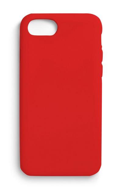 Coque de téléphone rouge unie