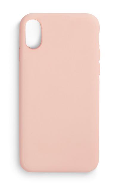 Coque de téléphone rose clair en silicone