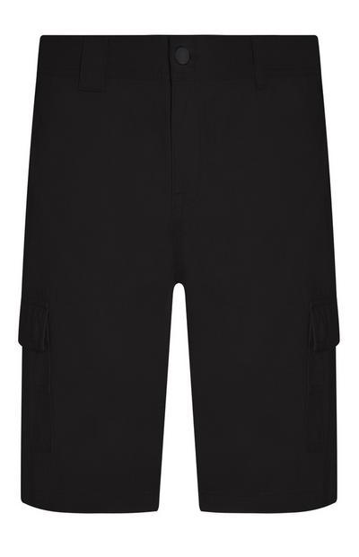 Pantalón cargo corto negro