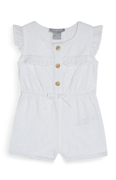 Baby Girl White Lace Playsuit