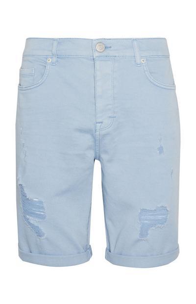 Modre raztrgane oprijete kratke hlače