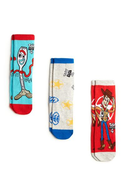 Blue And Red Toy Story Socks 3Pk
