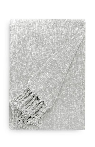 Light Gray Lightweight Chenille Throw