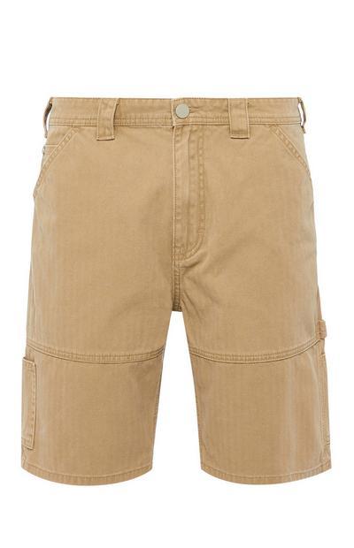Beigefarbene Carpenter-Shorts