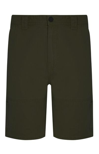 Khakifarbene Carpenter-Shorts im Utility-Look