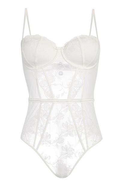Ivory Lace Balcony Bodysuit