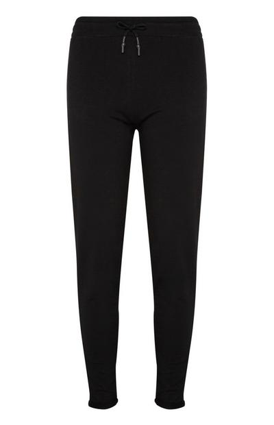 Black Joggers With Elasticized Waist