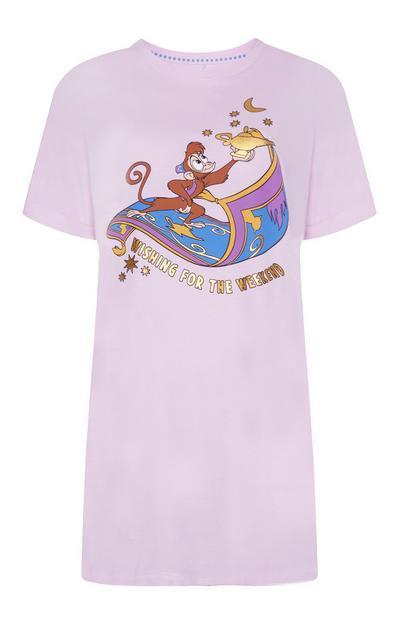 Lilac Aladdin Sleep Tee with Abu Print