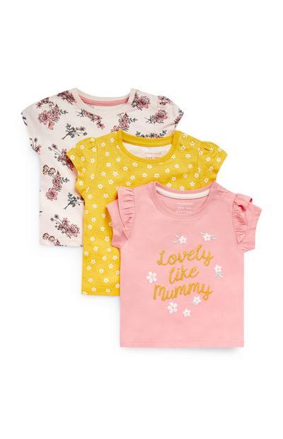 Dekliške majice za dojenčke, 3 kosi