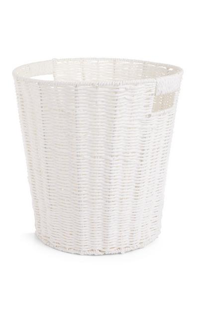 White Paper Rope Basket