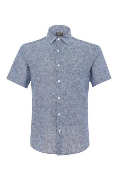Grey Button Up Short Sleeve Shirt