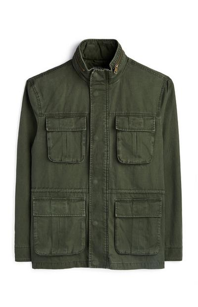 Khaki 4 Pocket Utility Field Jacket