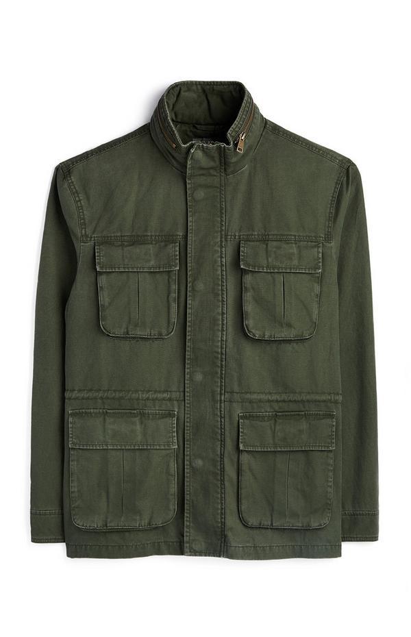 Olive 4-Pocket Utility Field Jacket