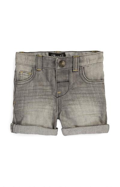 Shorts grigi in denim da bimbo