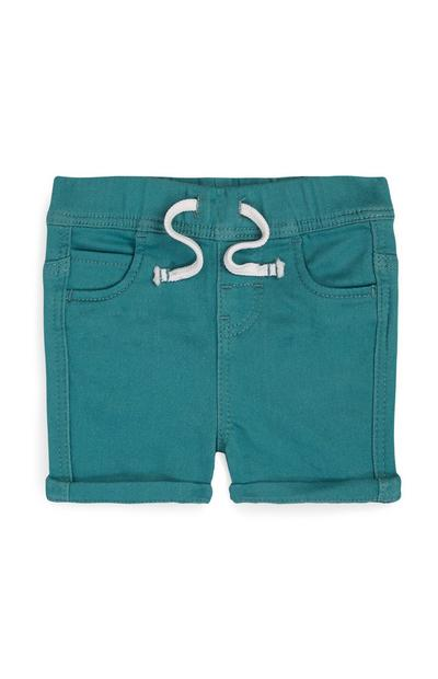 Baby Boy Green Pull On Knit Shorts