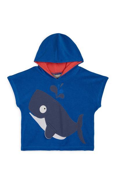 Baby Boy Shark Hooded Towel