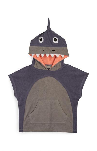 Baby Boy Brown Dinosaur Hooded Towel